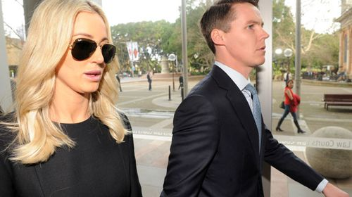 Ms Jacenko wiped away tears as her husband's godfather and life-long family friend gave evidence. (AAP)
