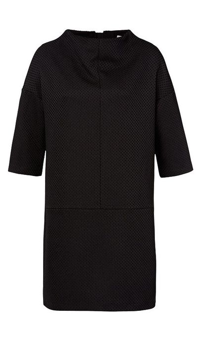 "<p><a href=""http://www.seedheritage.com/dresses/funnel-neck-dress/w1/i12803328_1001333/"" target=""_blank"">Dress, $129.95, Seed Heritage</a></p>"