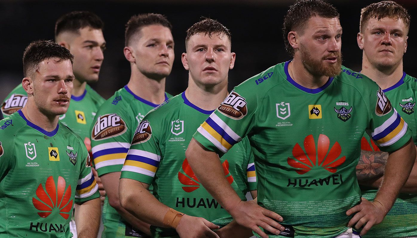 Canberra's top-four hopes suffered a blow with a loss to the Roosters.
