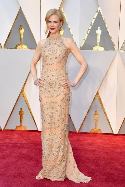 <p>Nicole Kidman - Actress</p> <p>Age: 50</p> <p>Go-to labels: Armani Prive, Calvin Klein by Appointment and Versace</p>