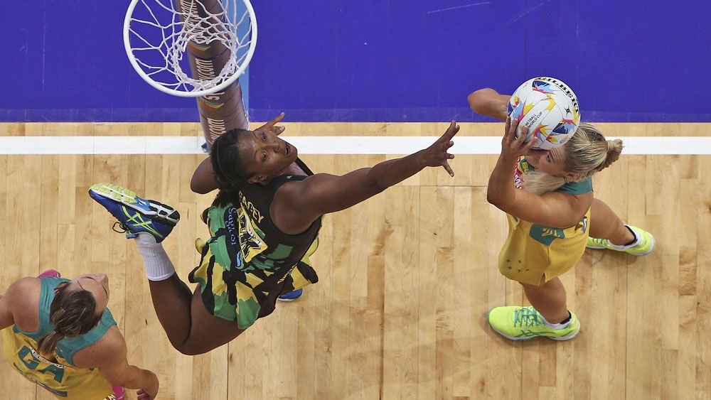 Diamonds shooter Caitlin Bassett will be able to score three pointers. (AAP)