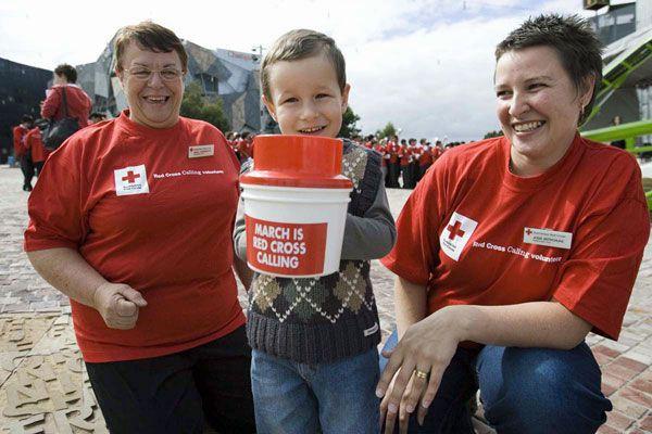 Red Cross volunteers (AAP)