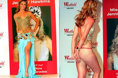 When an item of clothing completely removes itself, revealing WAAAY too much, yeah it's pretty much as awkward as it gets. Like this memorable Jennifer Hawkins moment…<br/><br/>(Pictured: Jennifer Hawkins)