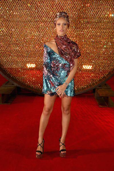 Adwoa Aboah in Michael Halpern at the Fashion Awards, London.