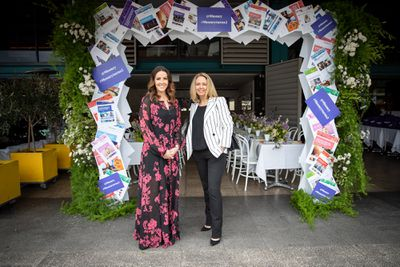 Kerri Elstub and Helen McCabe at the '9Honey Turns Two' celebration held in Sydney, October 12, 2018.