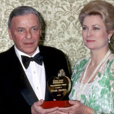 Frank Sinatra with Grace Kelly (Princess Grace of Monaco), 1980