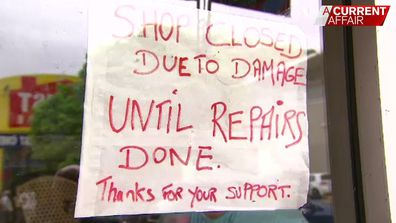 The store cannot reopen until the roof is repaired, but it isn't clear when that will be.