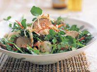 Pork and lychee salad