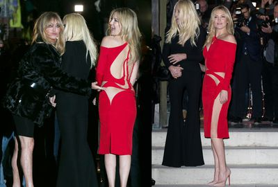 Kate Hudson flashed her butt in sheer panels at Paris Haute Couture Fashion Week.