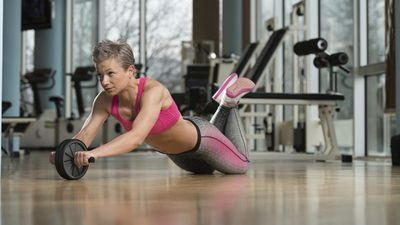 <strong>8. Try an ab roller</strong>