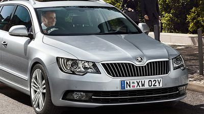 The Skoda Superb Elegance 125TDI wagon was rated the best value large car under $60,000, with the Hyundai Genesis coming second, and the Ford Falcon G6E Turbo coming third. (Supplied)