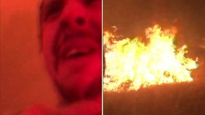 """My eyes are burning': Amazing wildfire escape"
