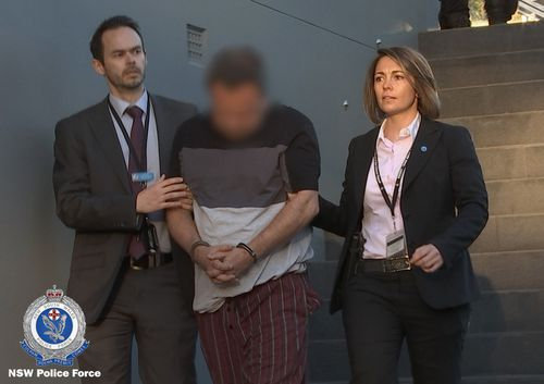 Police conducted early raids on three properties in Sydney's north-west yesterday morning. Picture: NSW Police