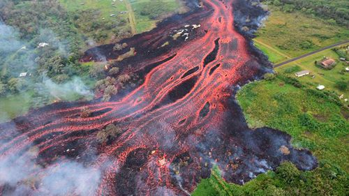 Lava Hawaii flow