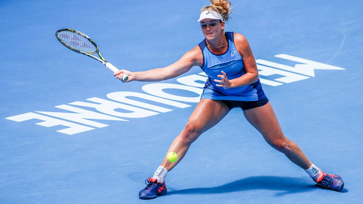 CoCo Vandeweghe during her semi-final loss to Venus Williams at the Australian Open. (AAP)