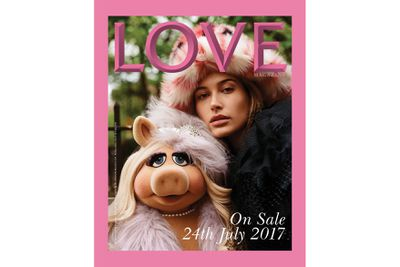 "<p>Hailey Baldwin's 10.4 million followers on Instagram have just been treated to her latest cover, alongside mega Muppet Miss Piggy on Katie Grand's <em>Love </em>magazine. It's the second high-profile cover for Alex Baldwin's niece in a month, having already appeared in UK <em>Elle </em>where she complained about the labelling that accompanies Instagram success:</p> <p>""I work my a** off to make what I have and to prove that this is what I want to do. I want to be a model,"" Hailey, 20, told <em><a href=""http://www.elleuk.com/life-and-culture/culture/longform/a36415/hailey-baldwin-is-elle-july-cover-star/"" target=""_blank"">Elle</a></em>. ""I don't think I would be where I am if people didn't see something in me. I put all my modeling [photos] on my Instagram because I'm showing it to people. It's not about me getting paid to model for things on Instagram – of course, sometimes we do get paid for things we do for Instagram and Twitter – but there is a line of calling someone an Insta model or an Insta star.""<br> <br> Hailey was less vocal about her Love cover, posting a pig emoji, but enduring supermodel and actress Miss Piggy had more to say on her Instagram account @realmisspiggy (77,000 followers).</p> <p>""Nothing says LOVE like moi and haute couture style. Vous look positively stunning, @haileybaldwin!"" she wrote on her own official Instagram account. Baldwin shared an image of the cover too along with a cute pig emoji to honor her cover girl counterpart.</p> <p>Hailey and Miss Piggy both wear Miu Miu on the latest issue of the fashion industry favourite, photographed by Alasdair McLellan.</p> <p>This isn't Miss Piggy's first fashion foray, having worked with Kate Spade, while Hailey has fronted Australian brands ModelCo and The Daily Edit.</p>"