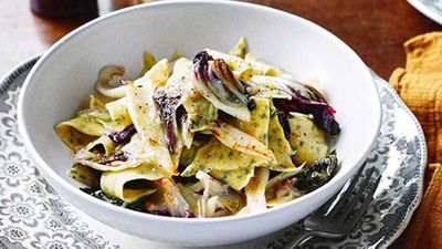 "<a href=""http://kitchen.nine.com.au/2016/05/16/10/38/maltagliati-di-pane-con-calamari-bread-maltagliati-with-calamari"" target=""_top"" draggable=""false"">Maltagliati di pane con calamari (bread maltagliati with calamari)</a> recipe"
