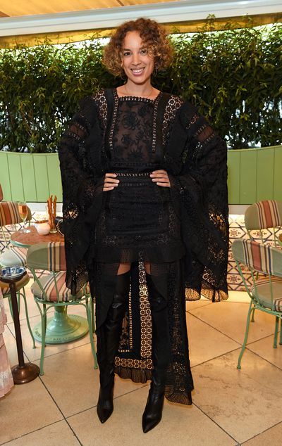 Phoebe Collings-James in Zimmermann, celebrating the launch of Zimmermann's London flagship store in Mayfair at Lou Lou's, London.