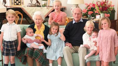 The Queen and Prince Philip with great-grandchildren
