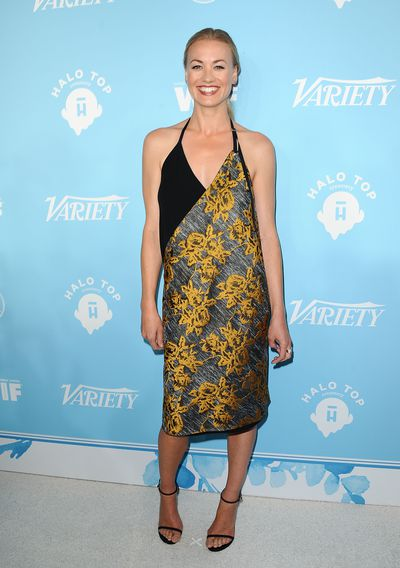 Yvonne Strahovski at the Variety and Women In Film's 2017 pre-Emmy celebration in West Hollywood, September 2017