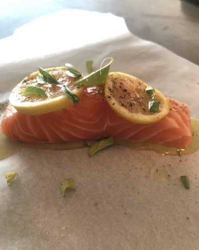My good friend chef Luke Mangan dropped off this beautiful piece of salmon, while I was house-bound.