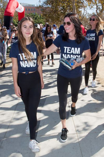 Courteney Cox and daughter Coco Arquette stepped out in Los Angeles in matching outfits for the L.A. County Walk to Defeat Amyotrophic Lateral Sclerosis, November 2017.