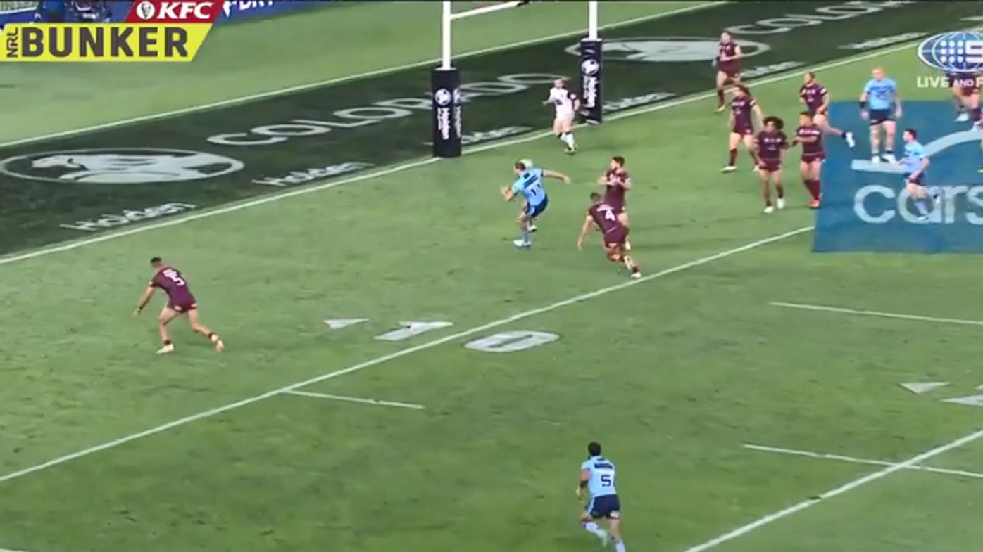 Second penalty try in Origin history causes controversy in Game 2