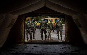 Spanish army sets up field hospital in northern city as new cases spike