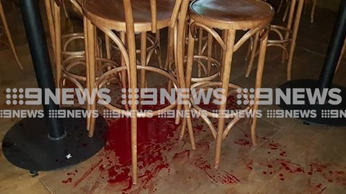 The victim sustained injuries to his hand and chest. Image: 9News