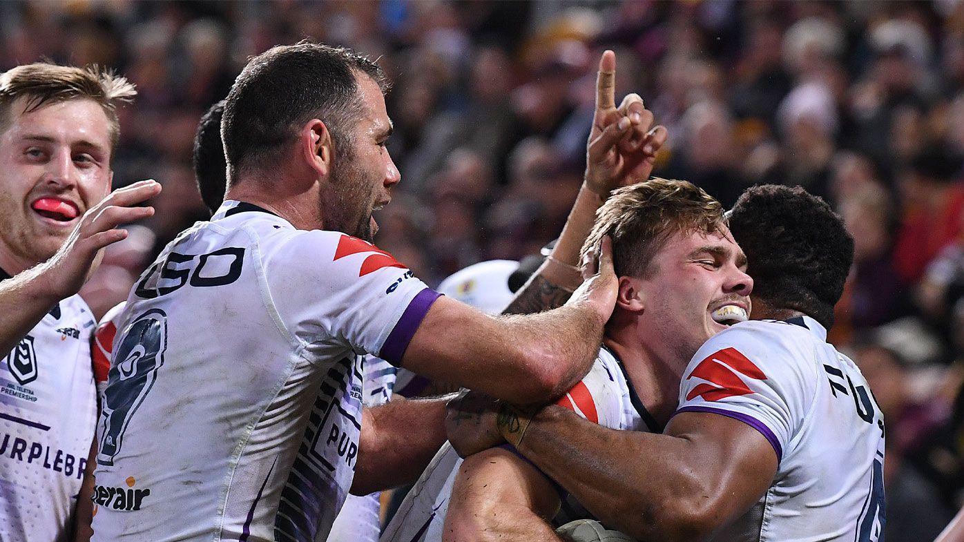 Storm 'bully' Broncos in NRL thrashing