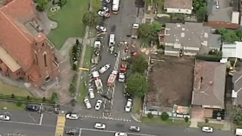 The incident is unfolding in Essendon. (9NEWS)