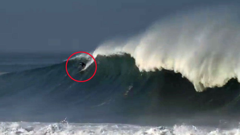 Surfer's GoPro shows the horror of a big wave wipeout