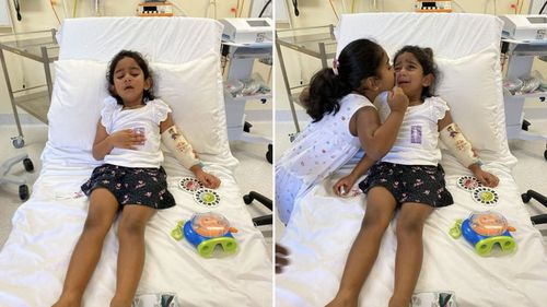 Three-year-old Tharnicaa is being medically evacuated to Perth from Christmas Island.