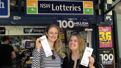 Newsagencies around the country were packed out ahead of Australia's record $100 million Powerball lotto draw.