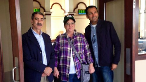 Annie with other members of the Columbus Islamic community. (Facebook/Cynthia Cox de Boutinkhar)