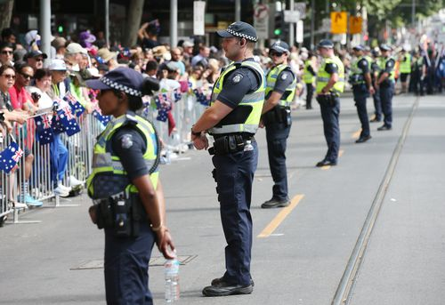 Security has also been boosted up for Australia Day events around the nation (AAP).