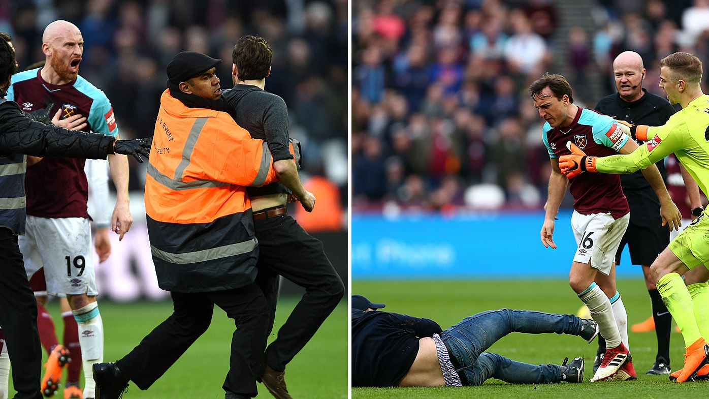 EPL: West Ham fans storm pitch in ugly scenes at London Stadium