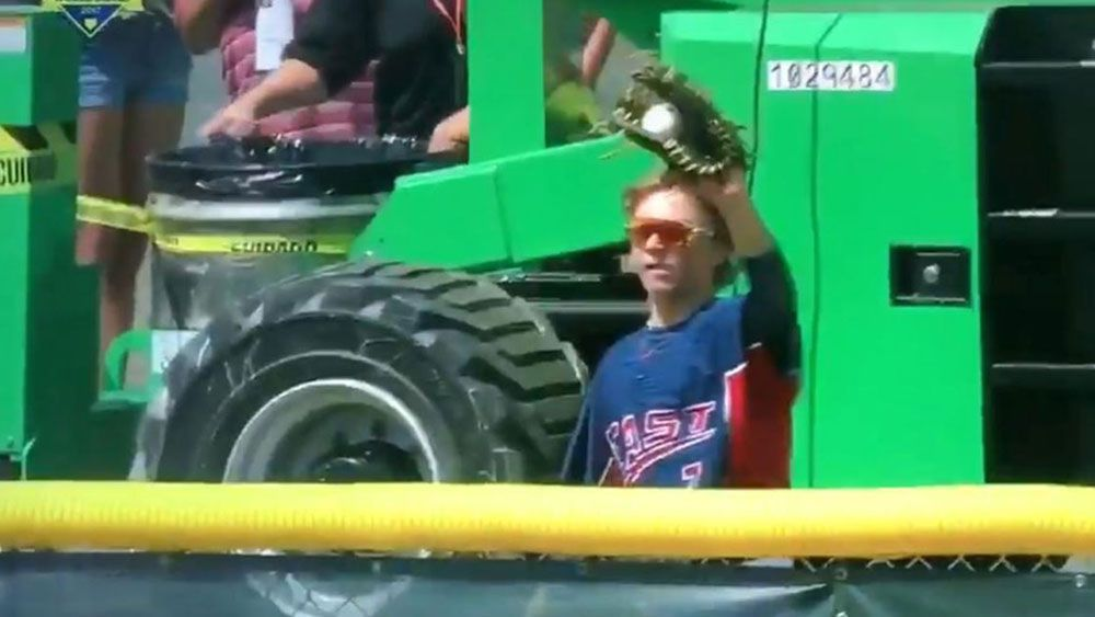 14-year-old Jack Regenye pulls off epic catch at Junior League World Series