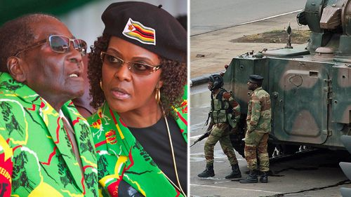 President Robert Mugabe and his wife Grace have been removed from power by a military takeover in Zimbabwe. (Photo: AP).