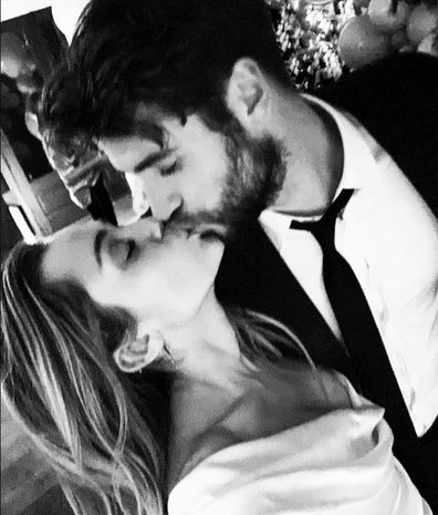 Liam Hemsworth, Miley Cyrus, wedding, photo