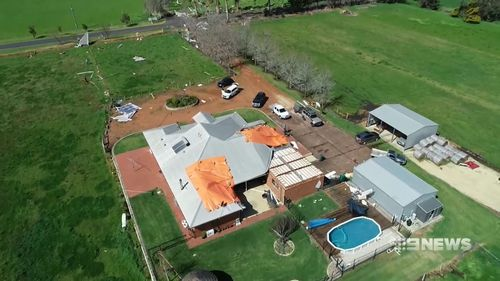 An aerial view.
