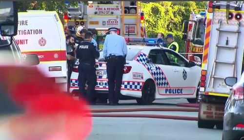 Police yesterday shut down Pavonia Street and evacuated nearby homes. (9NEWS)