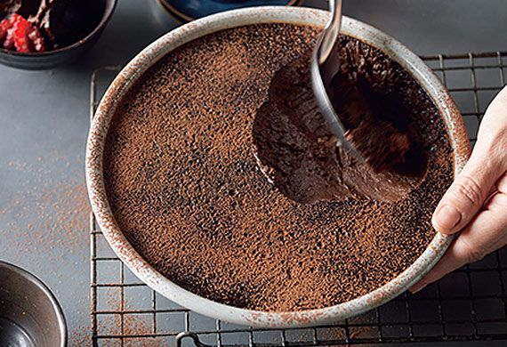 Suzanne Gibbs' rich chocolate mousse
