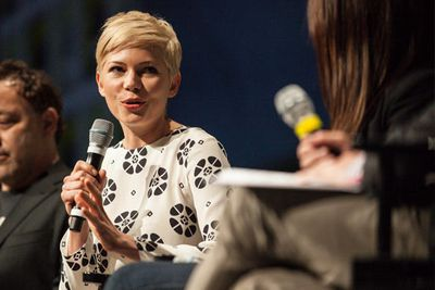 How do you top the hotness of Michelle Williams on stage for the <i>Oz</i> panel?