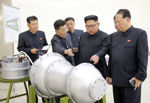 "Kim Jong Un has complained to Russia about complained about ""U.S. hegemonism"". (AP/AAP)"