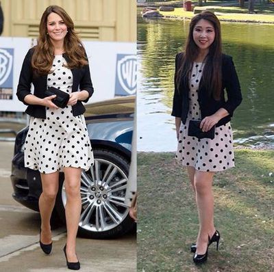 Chanelling Middleton's black and white Topshop frock from 2013
