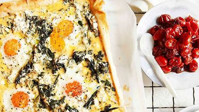 "<a href=""http://kitchen.nine.com.au/2016/05/16/16/37/egg-spinach-rocket-and-feta-breakfast-tart"" target=""_top"">Egg, spinach, rocket and feta breakfast tart</a><br> <a href=""http://kitchen.nine.com.au/2017/01/16/12/31/things-to-do-with-leafy-vegetables-other-than-chuck-it-in-a-salad"" target=""_top""><br> More leafy veg recipes that aren't salad</a><br> <br>"