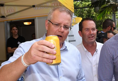 Prime Minister Scott Morrison has mingled with Cup fans at Caloundra on the Sunshine Coast.