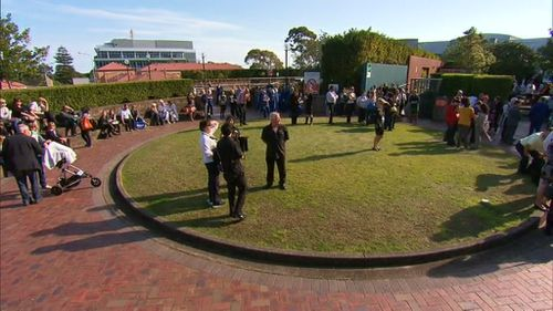Patients and medical staff were evacuated from the top five floors of the Prince of Wales Private Hospital. (9NEWS)