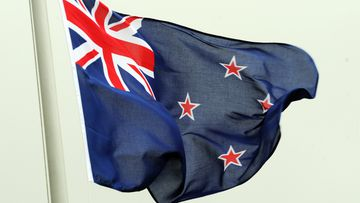 The New Zealand flag. (AAP)